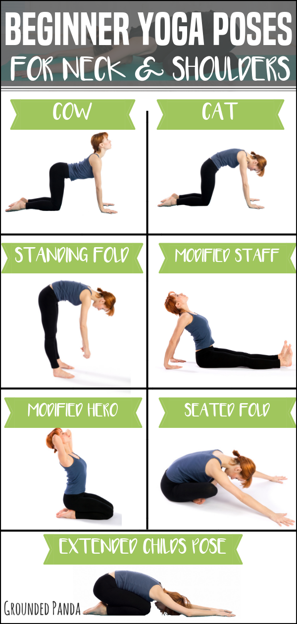 12 Gentle Yoga Poses To Relieve Tight Neck And Shoulders Yoga Shoulder Gentle Yoga Yoga Poses For Beginners
