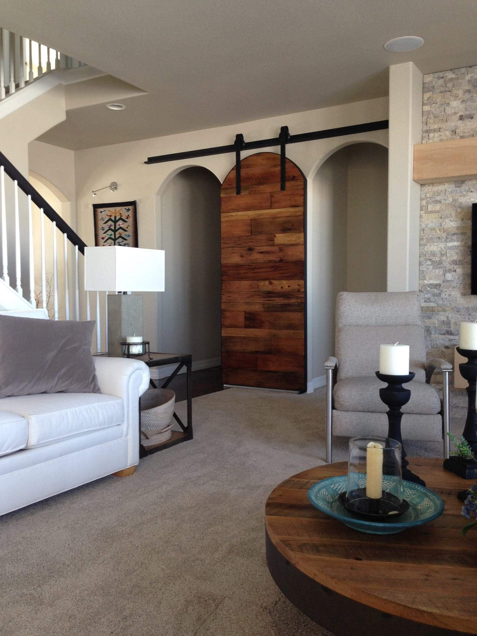 Arched Sliding Single Door For Two Openings Porter Barn Wood Arched Barn Door Interior Barn Doors Arched Doors