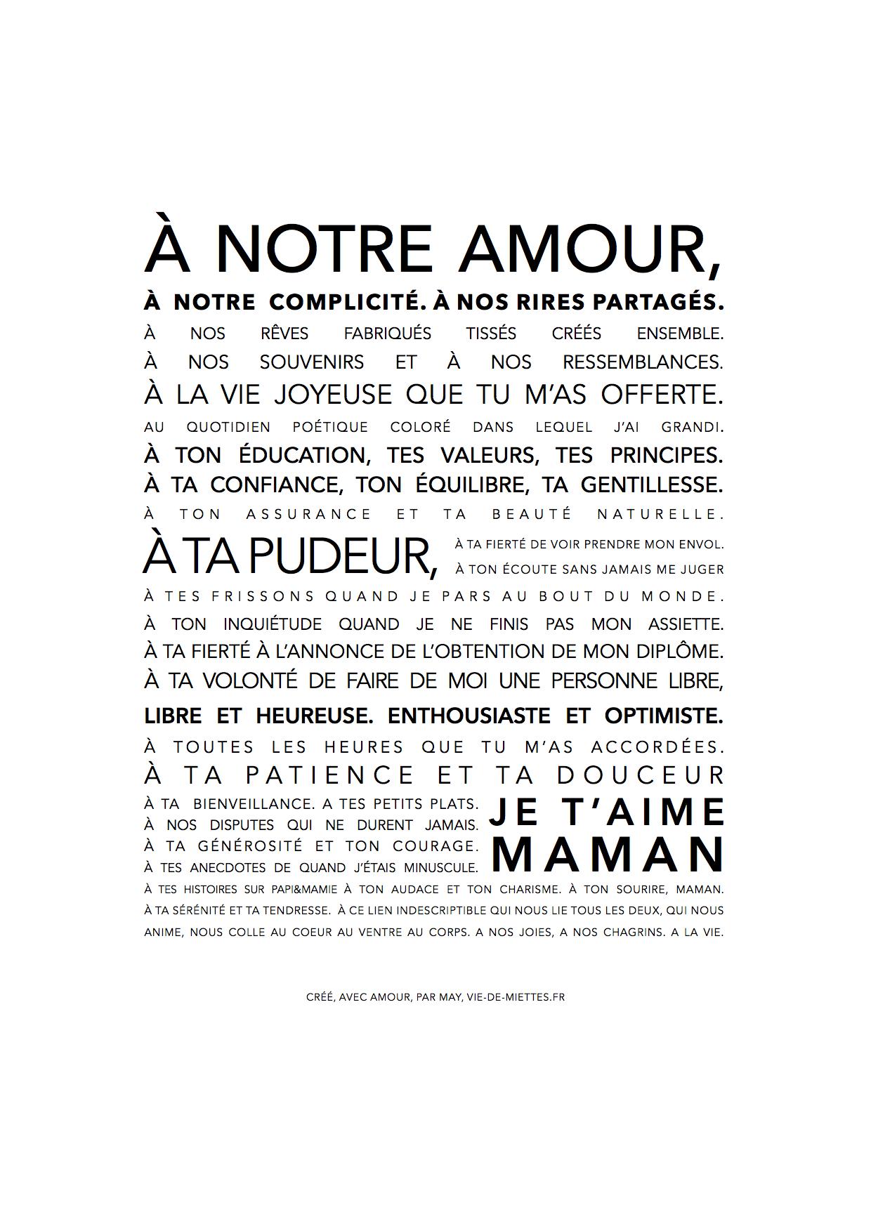 Affiche Texte Garçon Pour Sa Maman T Es à Moi Quote