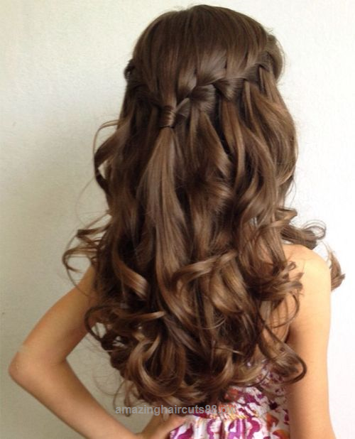Waterfall braid. wedding hairstyles for little girls best photos ...
