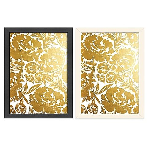 Bold, gold flowers are featured on the beautiful Americanflat ...