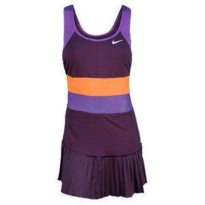 NIKE Women`s Pleated Knit Tennis Dress - Serena looks great in this dress at