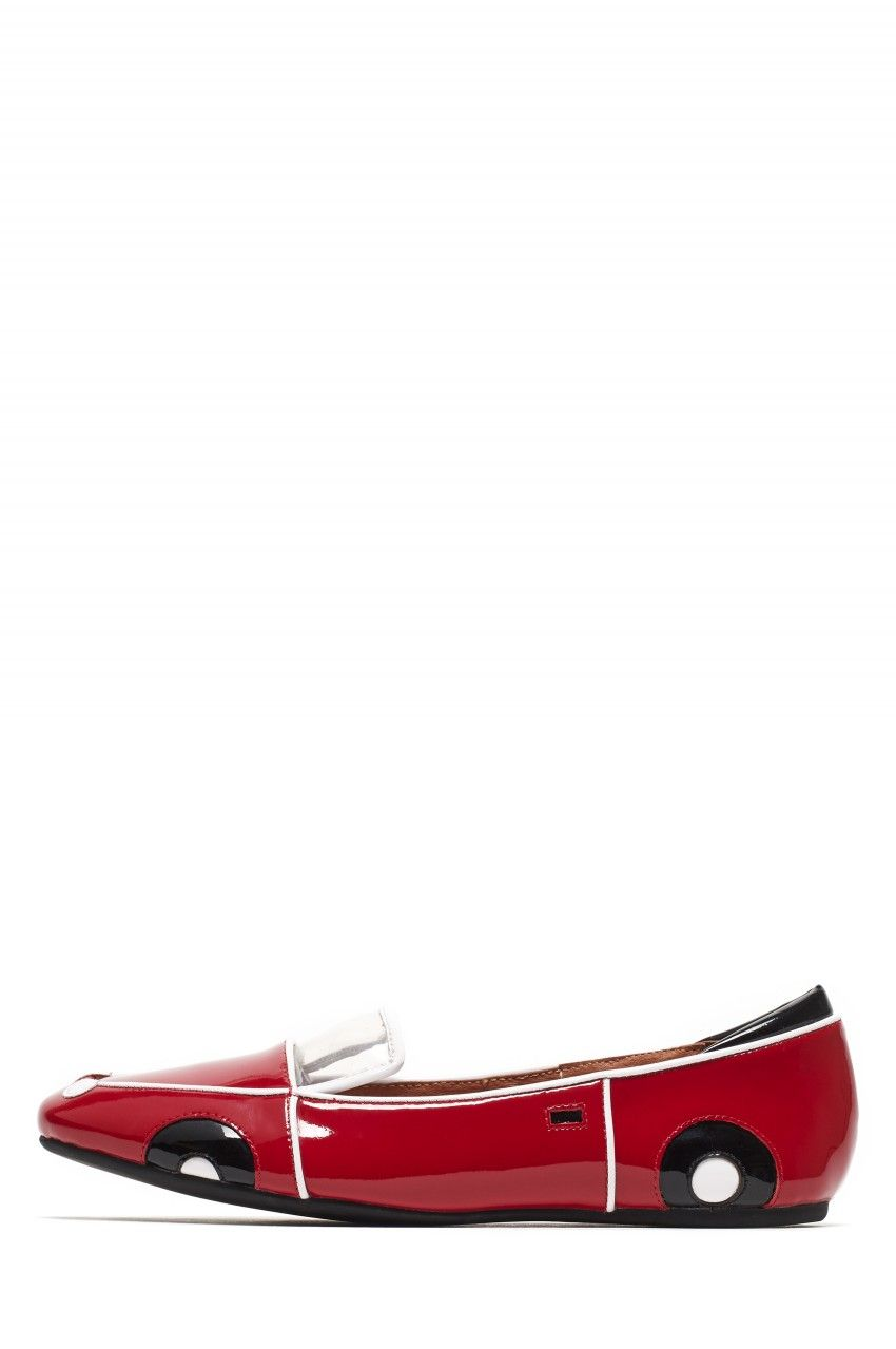 Jeffrey Campbell New Arrivals Everyday // VROOM in Red Patent Combo