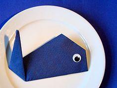 Einen Wal falten #serviettenfalteneinfach