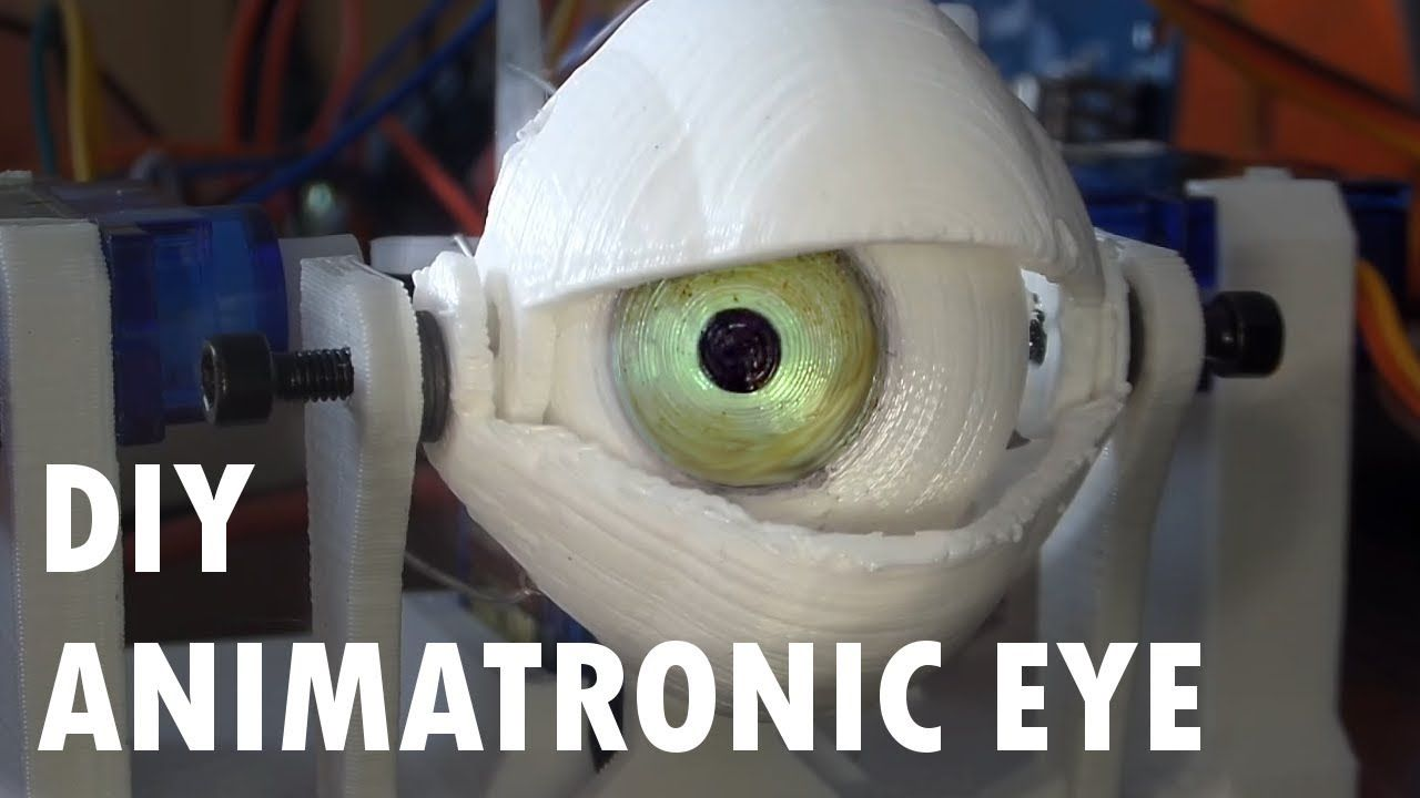 Diy Animatronic Eye Mechanism 3d Printed Youtube 3d Printing Business 3d Printer Designs 3d Printing