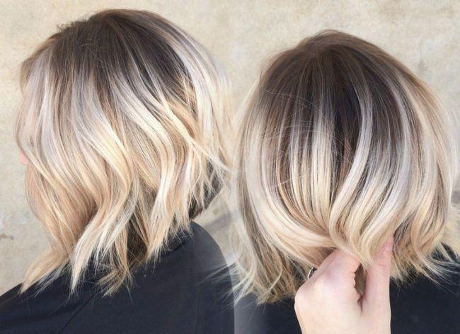Ombre Kurze Haare Dunkle Ansätze Blonde Spitzen Hair Short Hair