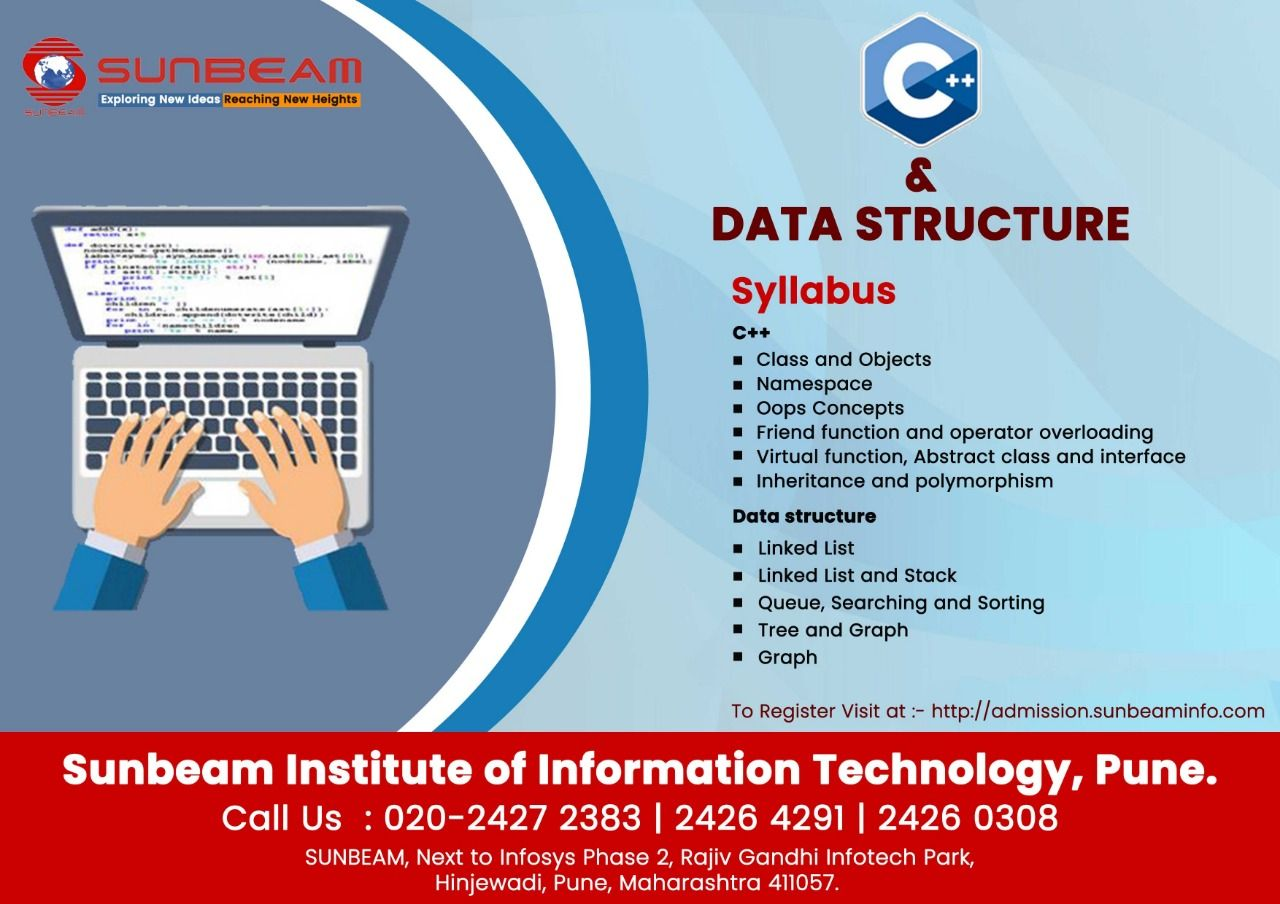 Data Structure Training C And Data Structure Course Sunbeam Institute Pune Data Structures Oops Concepts Sunbeam
