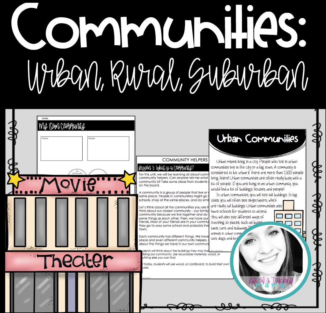 Types Of Communities Urban Rural Suburban