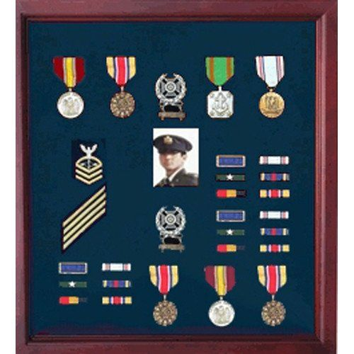 Military Medal Case Shadow Box Photo Holder Military Medal