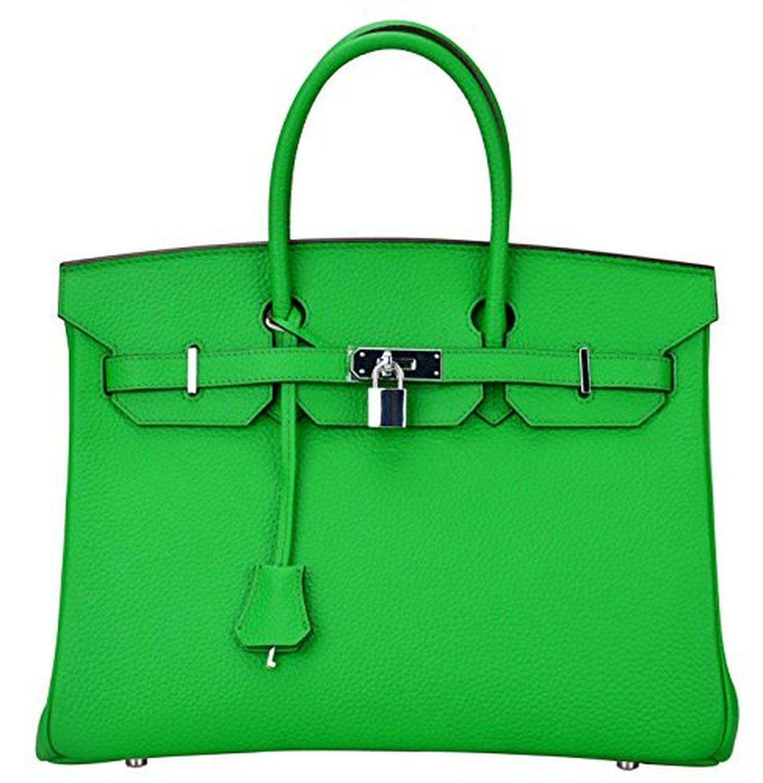 Ainifeel Women s Padlock Handbags with Silver Hardware (35cm 932721d2eb8ff