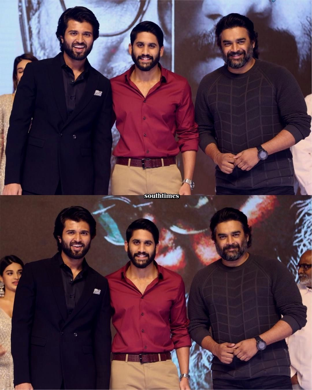 Moments from Savyasachi prerelease event held yesterday