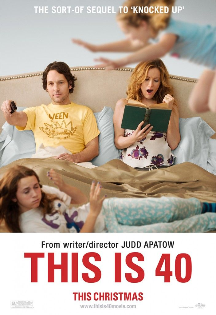 """This Is 40. Funny, cute and irritating movie. Really funny parts throughout the movie, which by the way is well written. One being, the mom goes to the accountant,  find out they are in trouble and he says. """"We're here for you, we're here to help you"""". The Mom, """"what are you  going to do"""". the accountant, """"there's nothing we can do"""". LOL, ok why is that scene so true to life? we're here to help you, we're here for you, but don't ask for help. ."""