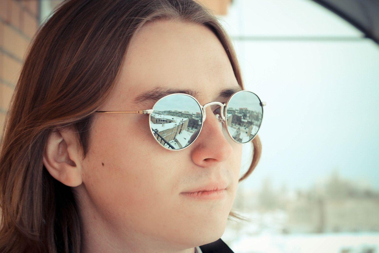 ray ban round mirrored metal sunglasses  vintage round metal mirror sunglasses. mirrored.. $21.00, via etsy.