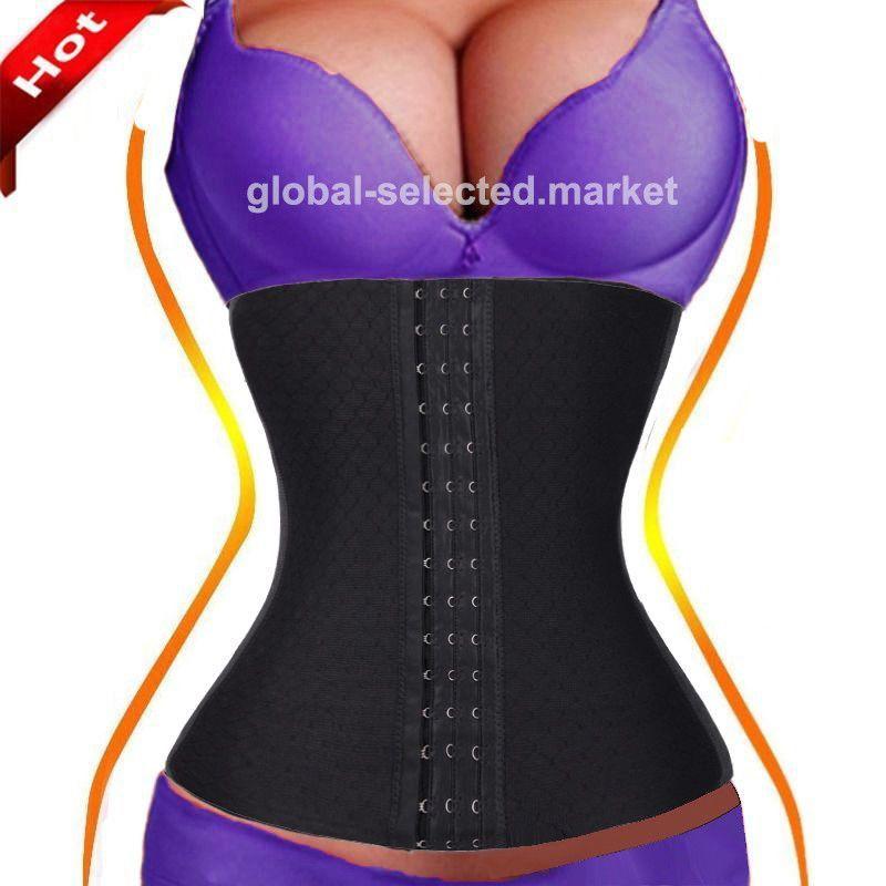 2848dc8536 Corset Waist Trainer Control Body Shaper Tummy Shapewear Sport Fajas -Reductoras