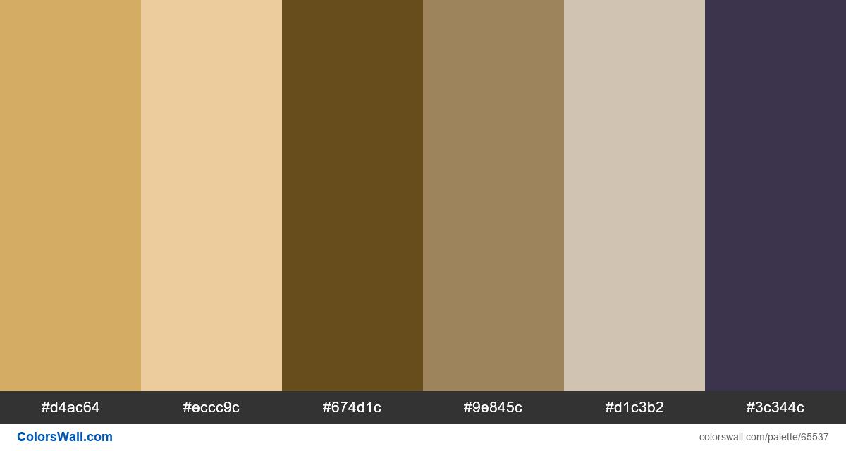 K Logo Print Golden Brand Colors Palette Color Palette Brown Color Palette Color Palette Design