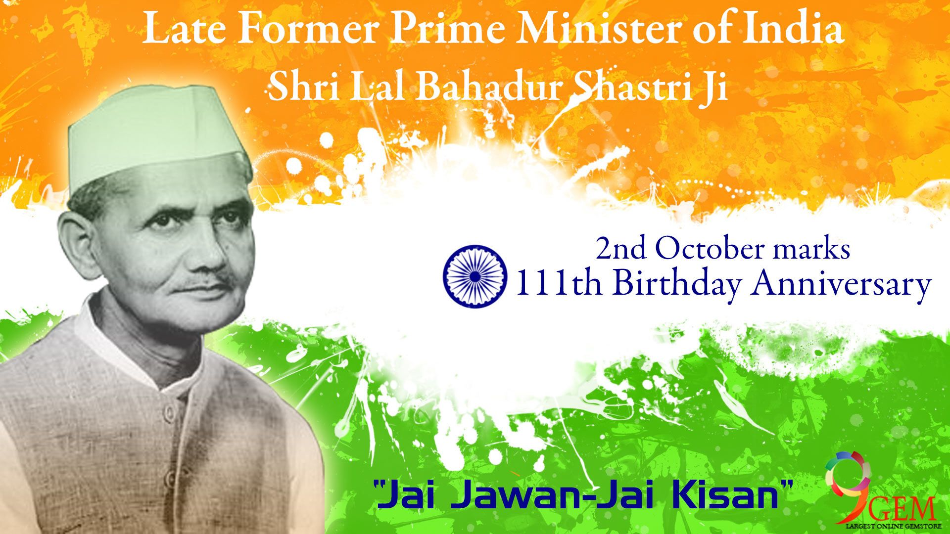 """""""Protect the freedom of India is my first preference """" Wishing you a very happy Lal Bahadur Shastri Jayanti from 9Gem.com"""