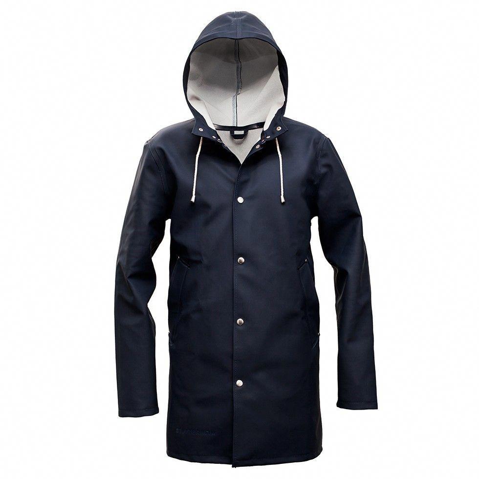 Stockholm Blå - Navy Blue Raincoat – Stutterheim Raincoats  #Womens3In1Raincoat
