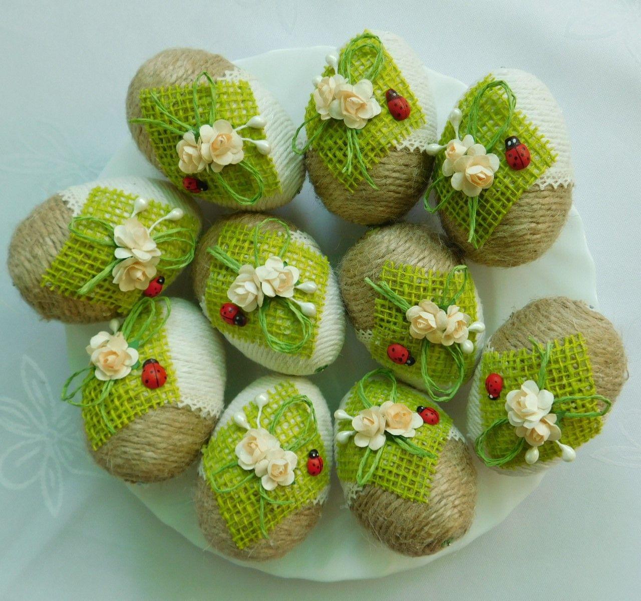 Piekne Jajka Pisanki Ozdoby Wielkanocne Rekodzielo 7171167805 Oficjalne Archiwum Allegro Easter Crafts Easter Diy Diy Spring Crafts