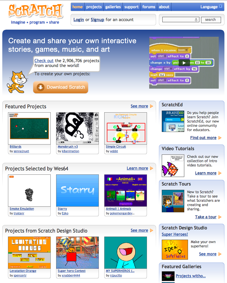 Scratch mit edu: the place to download, upload, remix and reuse