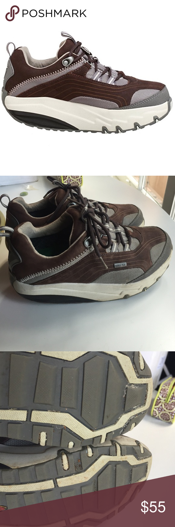 1c5528e34955 MBT shoes Swiss engineered masai trail shoes. Has the rock back and forth  sole which