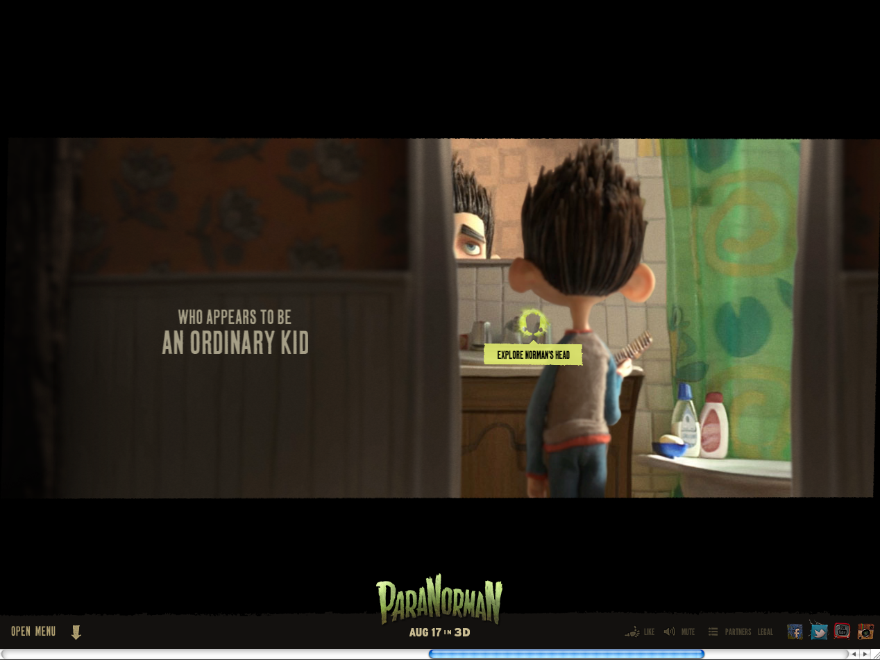 Lovely side scrolling #parallax movie site