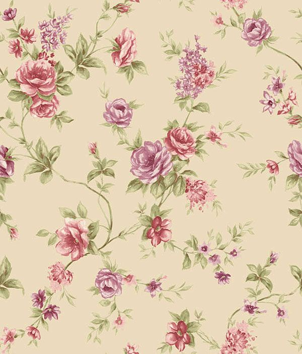 Rasch tapete rosenmuster rosa rot lila violett gr n braun for Blumenmuster tapete