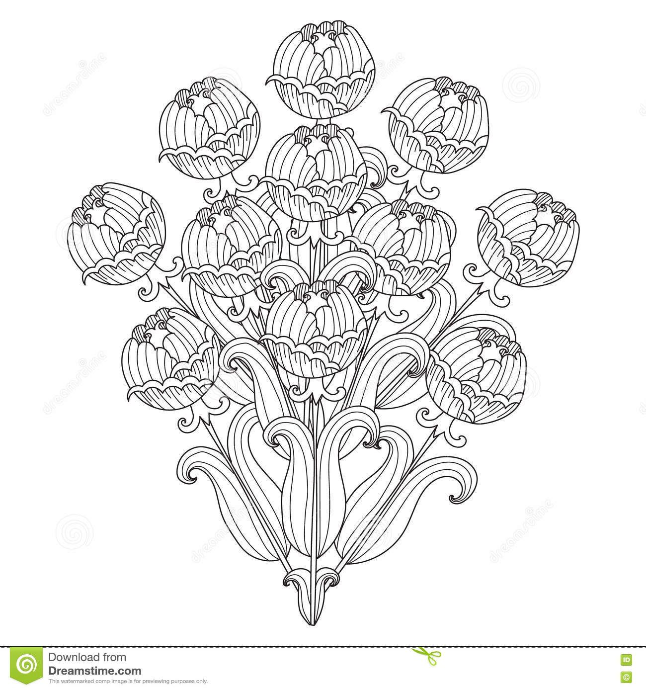 Pin Van Barbara Op Coloring Flowers