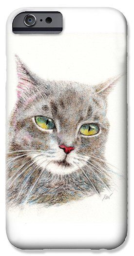 A Handsome Grey Cat iPhone 6 Case