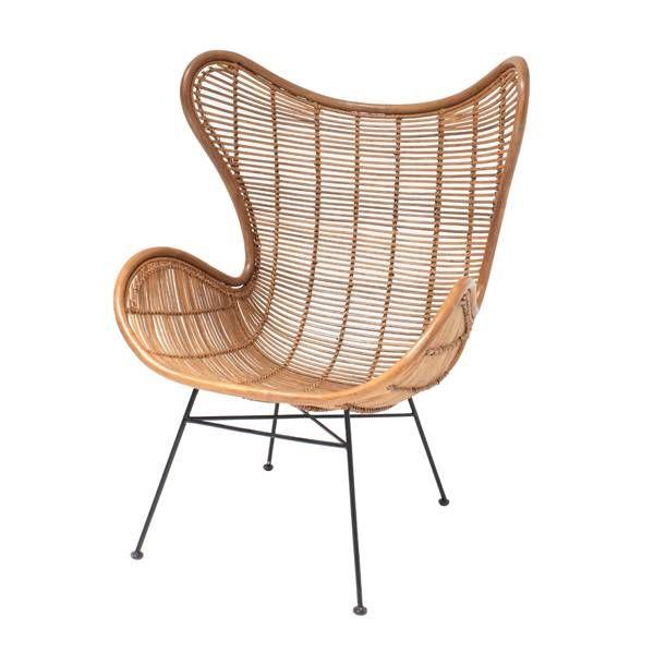 hk living luminaires muebles et d co fauteuil egg rotin. Black Bedroom Furniture Sets. Home Design Ideas