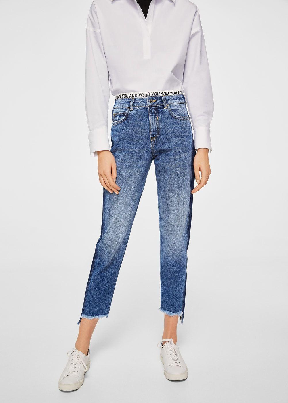 Kontrast parçalı jean pantolon - Kadın in 2019   kot olan her şey ... 6e3cfe4278