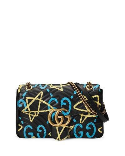 53932e6a111 GUCCI Gg Writers Medium Graffiti-Print Shoulder Bag