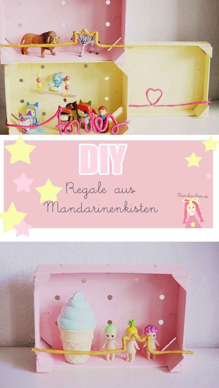 DIY Regal aus Mandarinenkisten + Tonies Aufbewahrung | Pinterest ...
