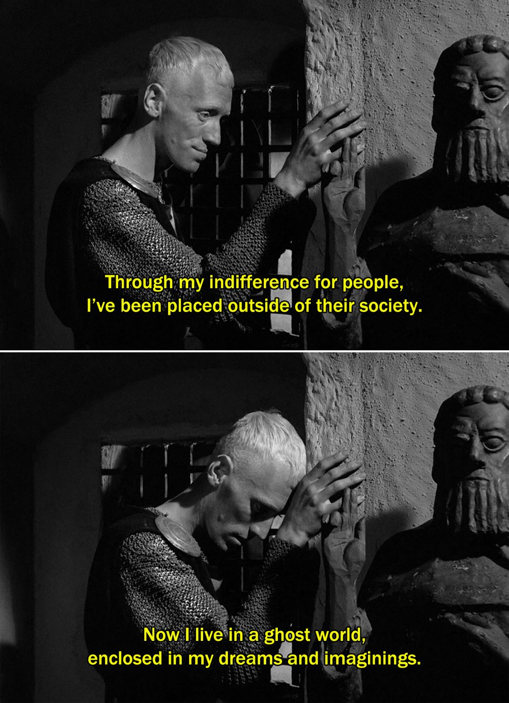 The Seventh Seal (1957)Block Through my indifference for