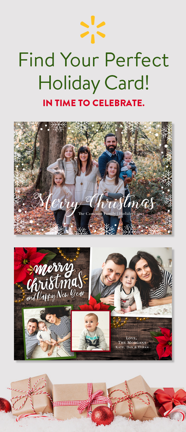 save big on holiday cards at walmart design premium quality cards