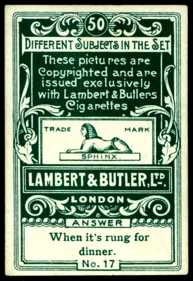 Cigarette Card Back - Lambert & Butler | Flickr - Photo Sharing!