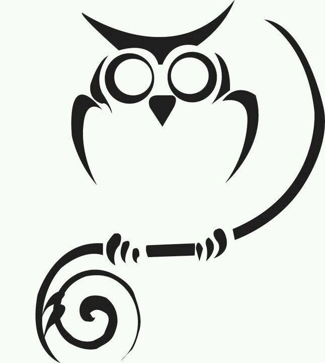 Owl outline artworks Pinterest Outlines Owl and Tattoo