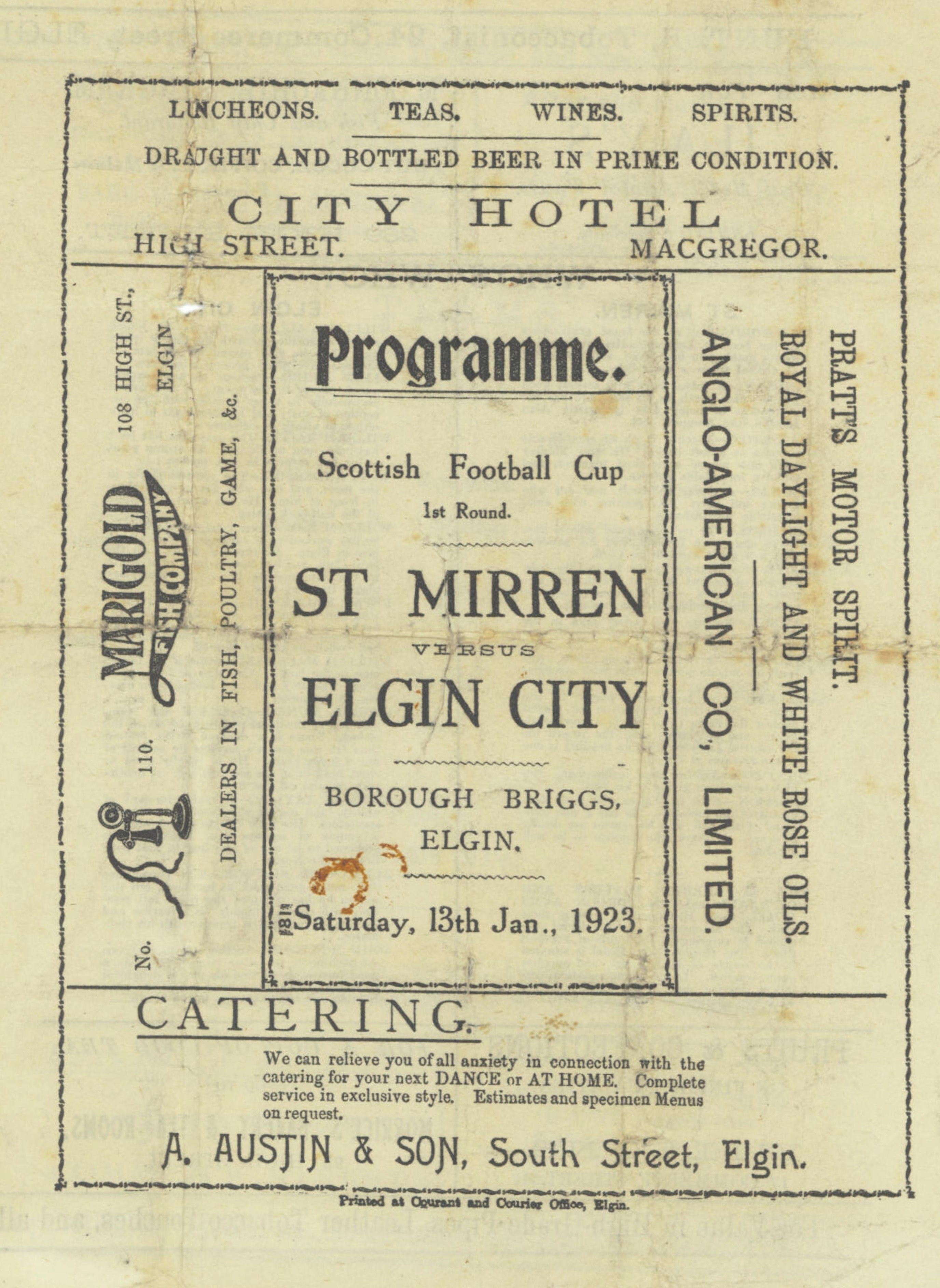 Elgin C. v St. Mirren 1923