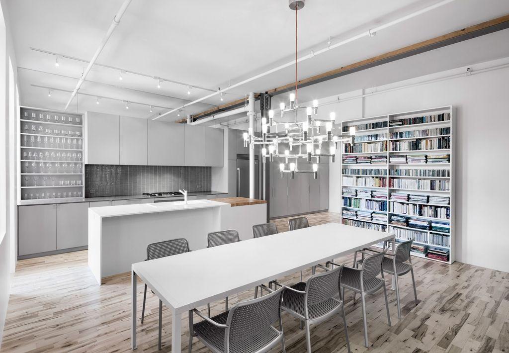 Offene Küche mit Esszimmer und eigener Bibliothek Küche - offene kuche esszimmer wohnzimmer