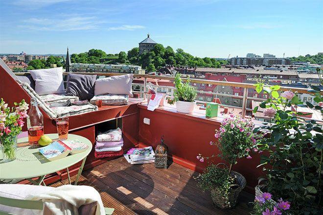 Gothenburg, Sweden. Amazing rooftop balcony!