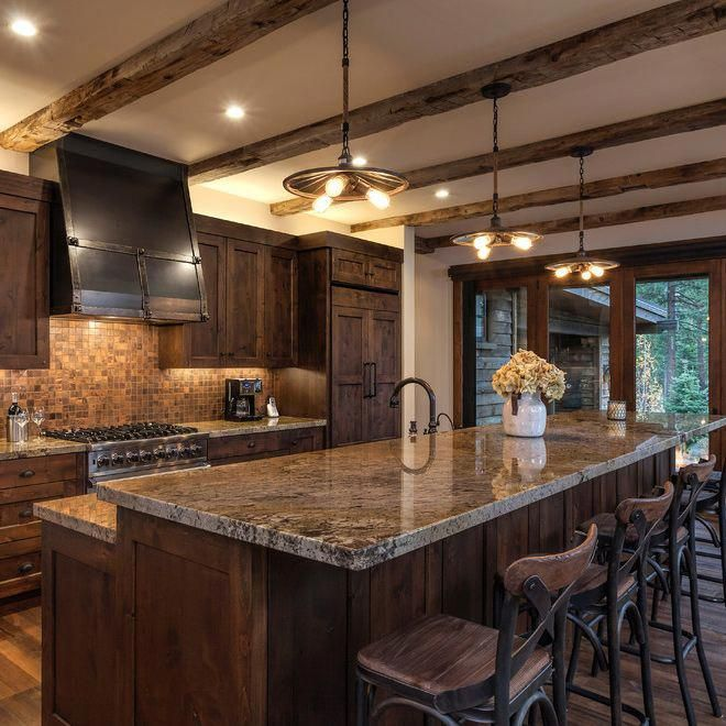 Rustic Kitchen Remodel Ideas | Brown kitchen cabinets ...