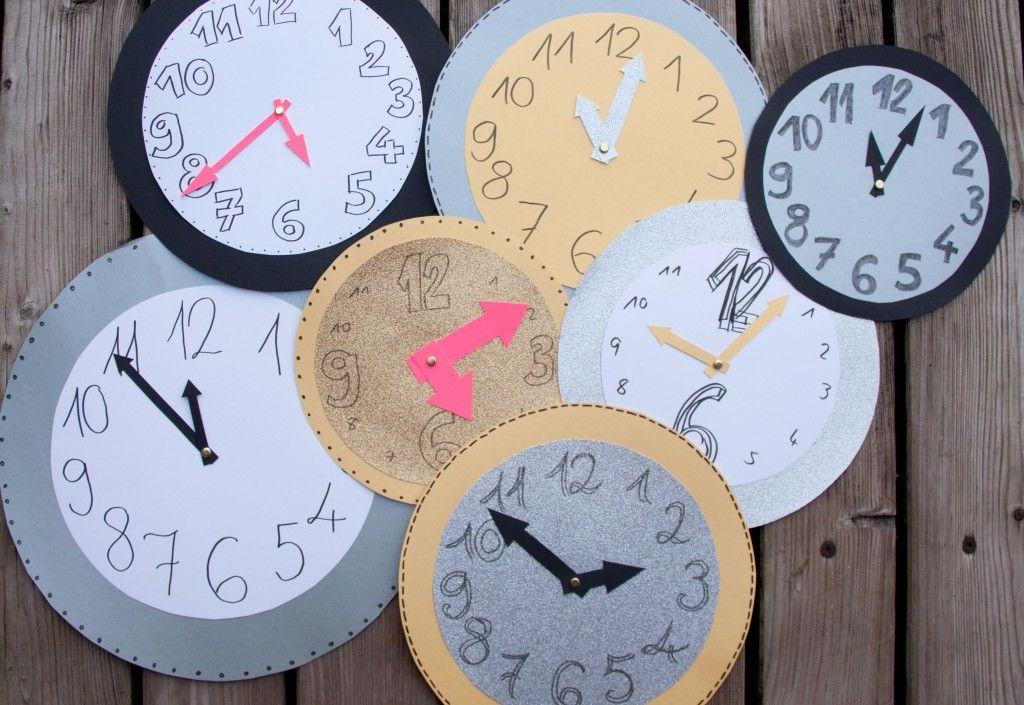 Silvesterdeko Mit Uhren   Ganz Leicht Selbermachen