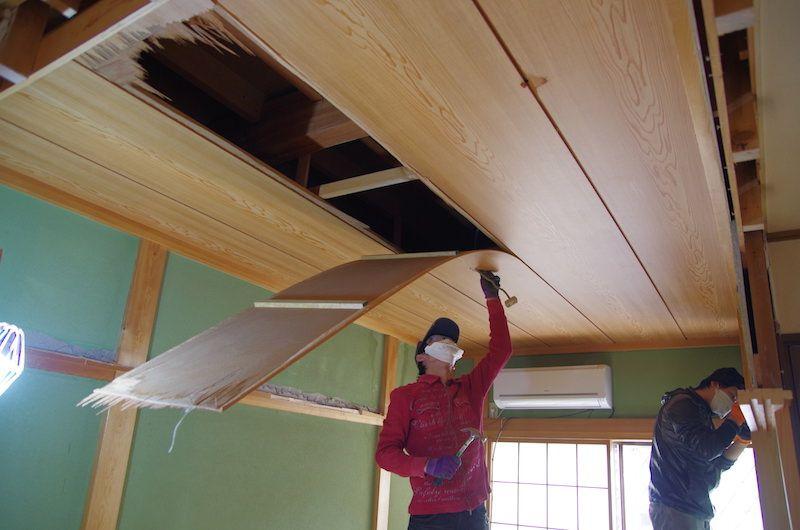 セルフリノベーション 和室の天井を抜く 天井 和室 天井 和室