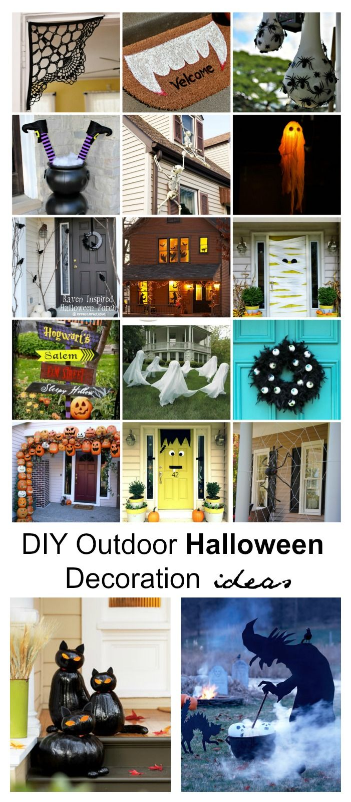 DIY Outdoor Halloween Decorations Diy outdoor halloween - Halloween Yard Decorations Ideas