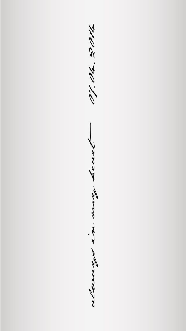 Always in my heart 07.04.2014 – Tattoos Trends