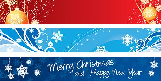 12++ Merry Christmas And Happy New Year Banner