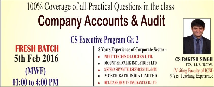 New Batch Start For Cs Executive Program Gr 2