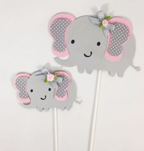 Gianna S Pink And Gray Elephant Nursery Reveal: Details About Elephant Centerpieces Stick/ Elephant Theme
