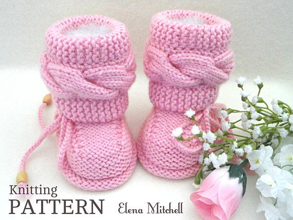 Knitting P A T T E R N Baby Booties Baby Shoes Knitted Baby Booties ...