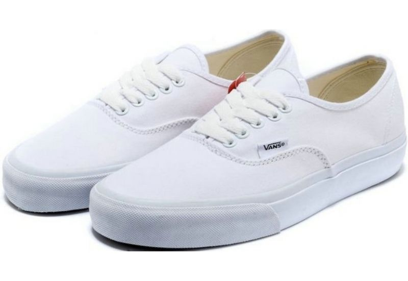 Image - Vans-shoes-all-white-authentic-womens-mens-classic-canvas ...