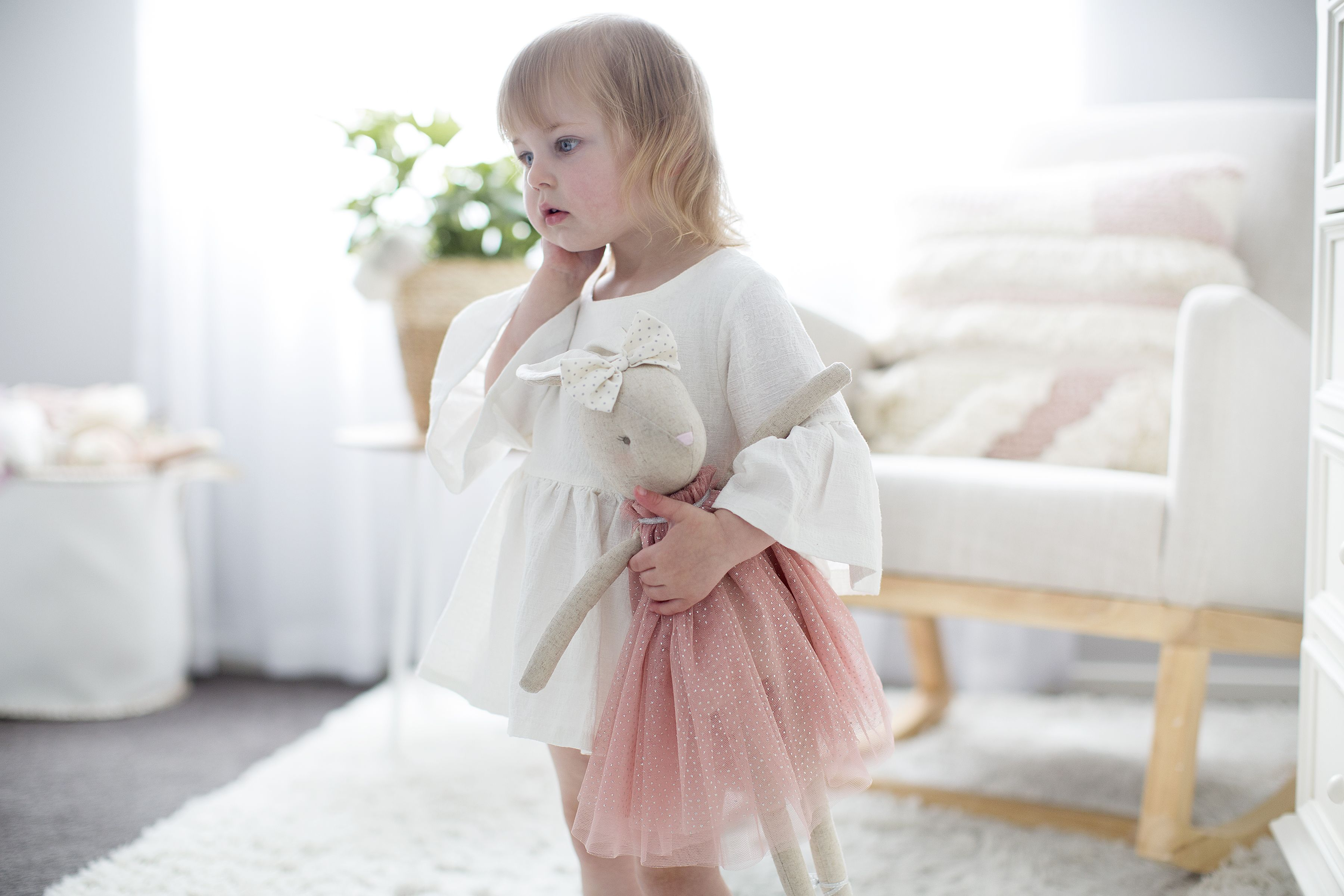 Licht Roze Jurk : Alimrose daisy konijnenpop 48 cm blush. ook verkrijgbaar met